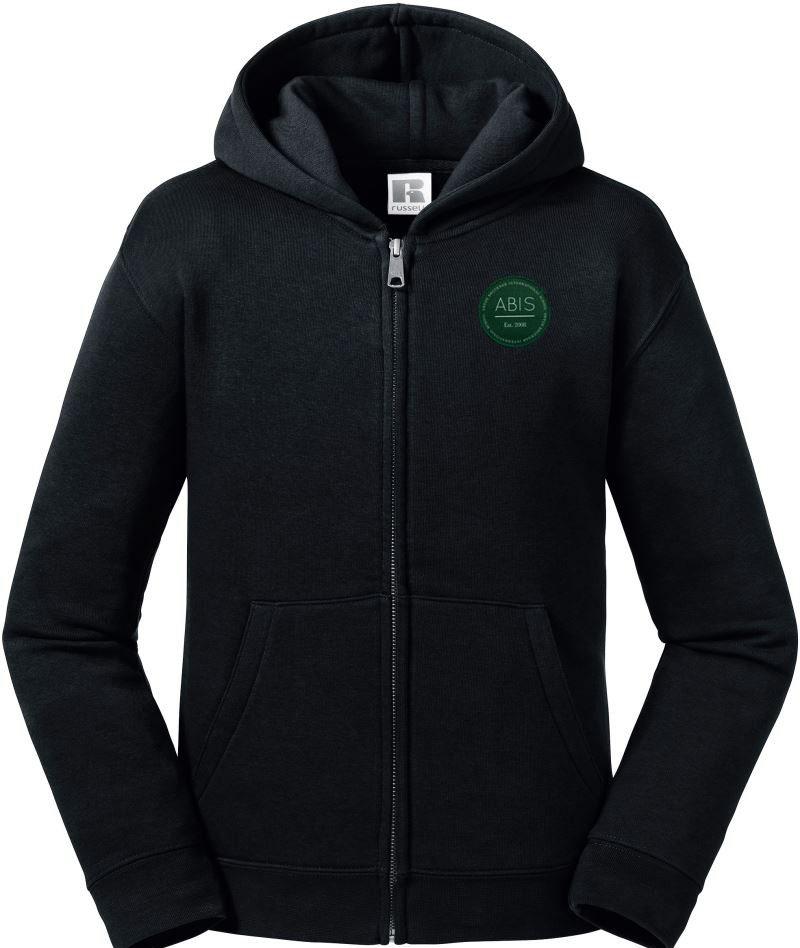 ABIS Kids Authentic Zipped Hood Jacke - black